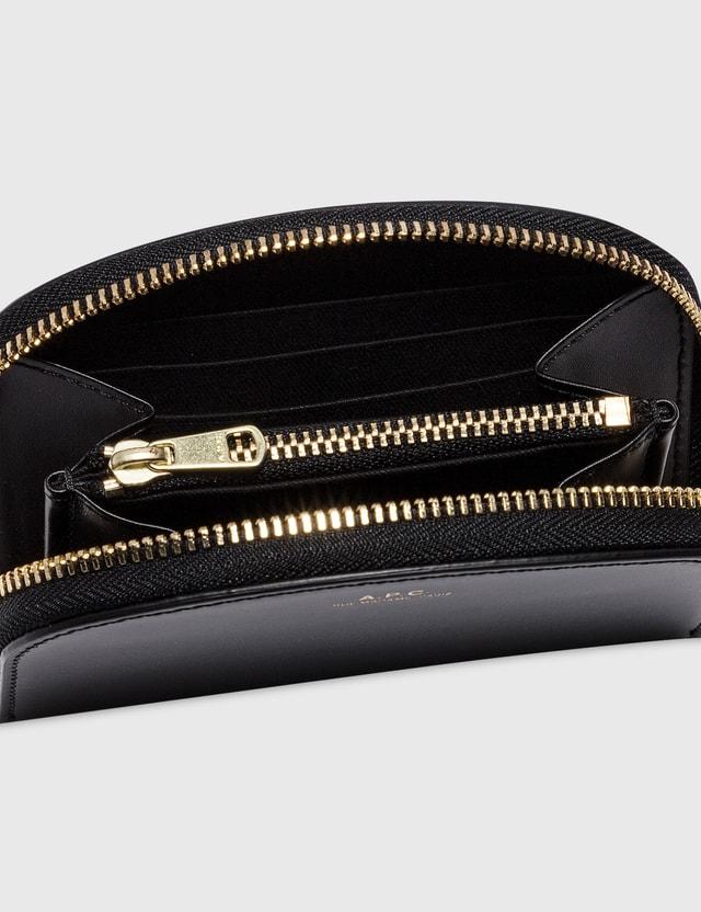 A.P.C. Demi-lune Compact Wallet Lzz Black Women