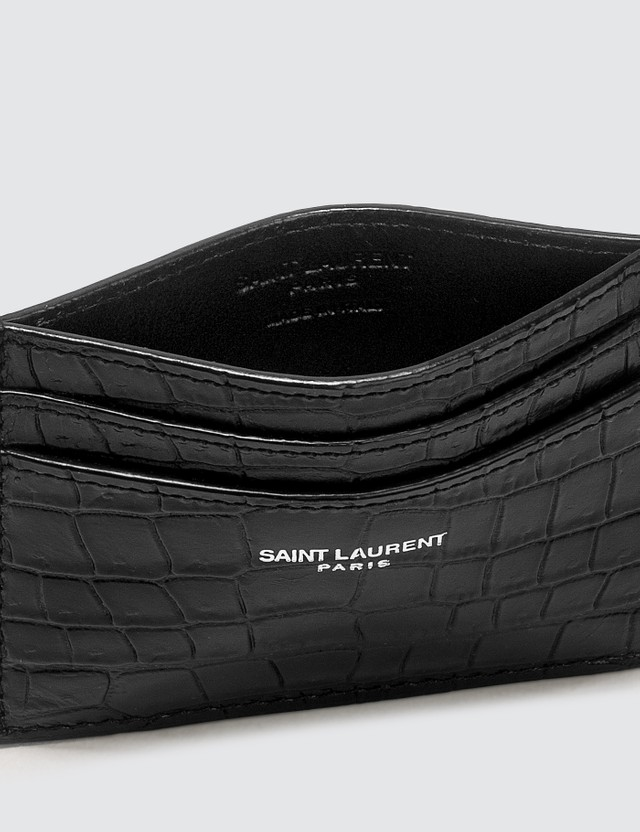 Saint Laurent Croc Card Holder