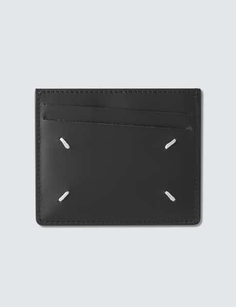 메종 마르지엘라 카드 지갑 (6슬롯) - 브라운/블랙 Maison Margiela Leather Card Holder