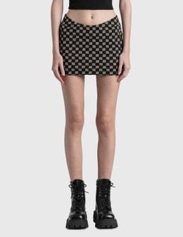 Misbhv Monogram Trinity Mini Skirt
