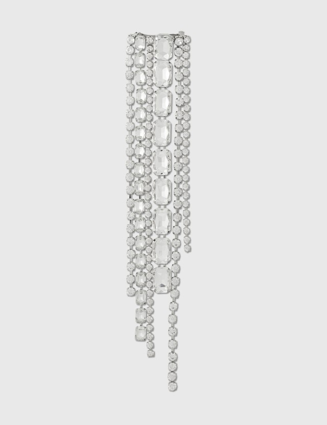 Area Baguette Crystal Fringe Hairclip Clear / Silver Women