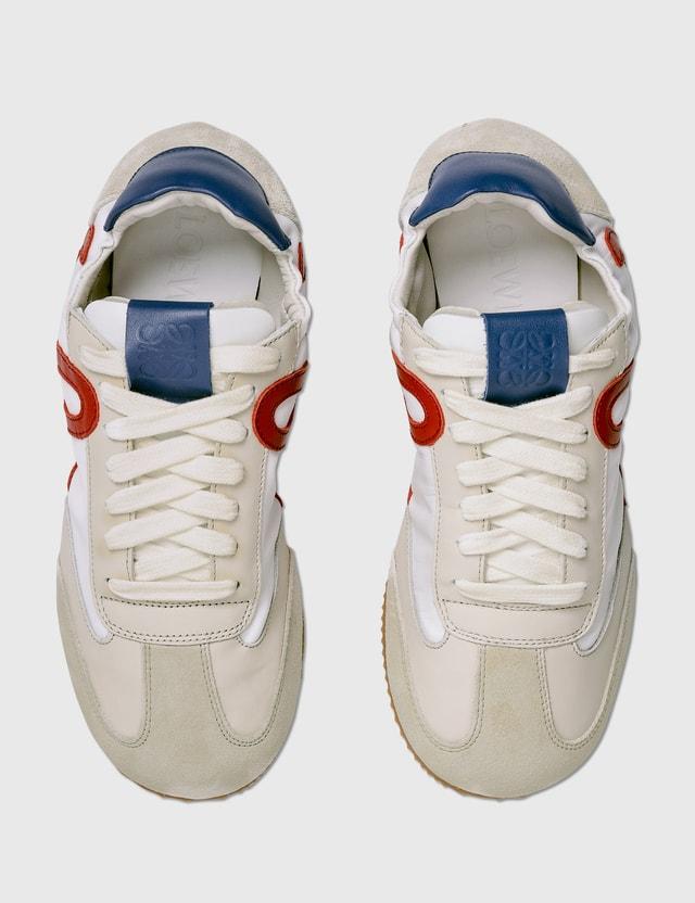 Loewe Ballet Runner Soft White/cherry/royal Blue Women