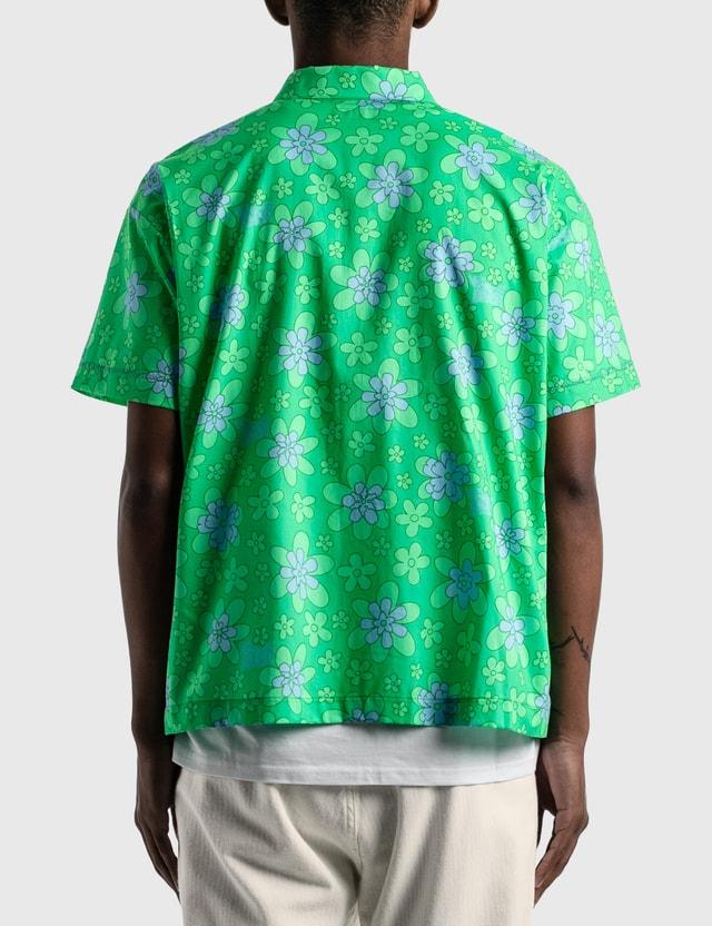 ERL Floral Printed Short Sleeve Shirt Green Men