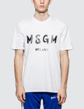 MSGM Brush Stroke Logo S/S T-Shirt Picture