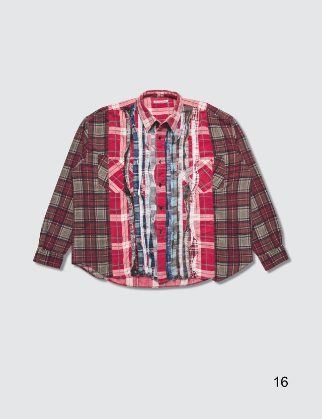 Needles Ribbon Cuts Flannel Shirt =e45 Men