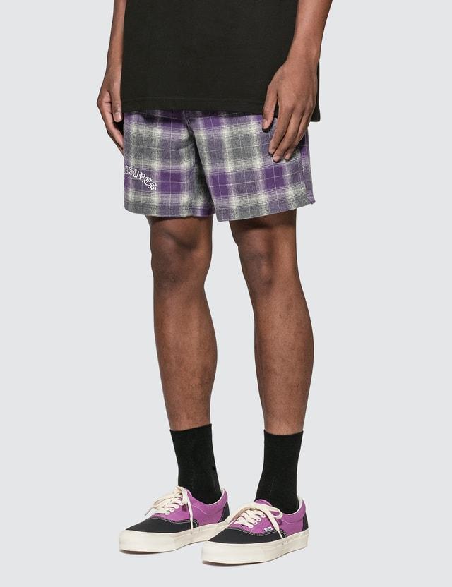 Pleasures Shadow Plaid Shorts