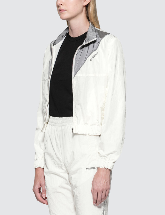 Misbhv Logo Full-zip Jacket White Women