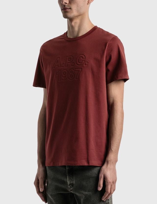 A.P.C. Hartman T-shirt Burgundy Men