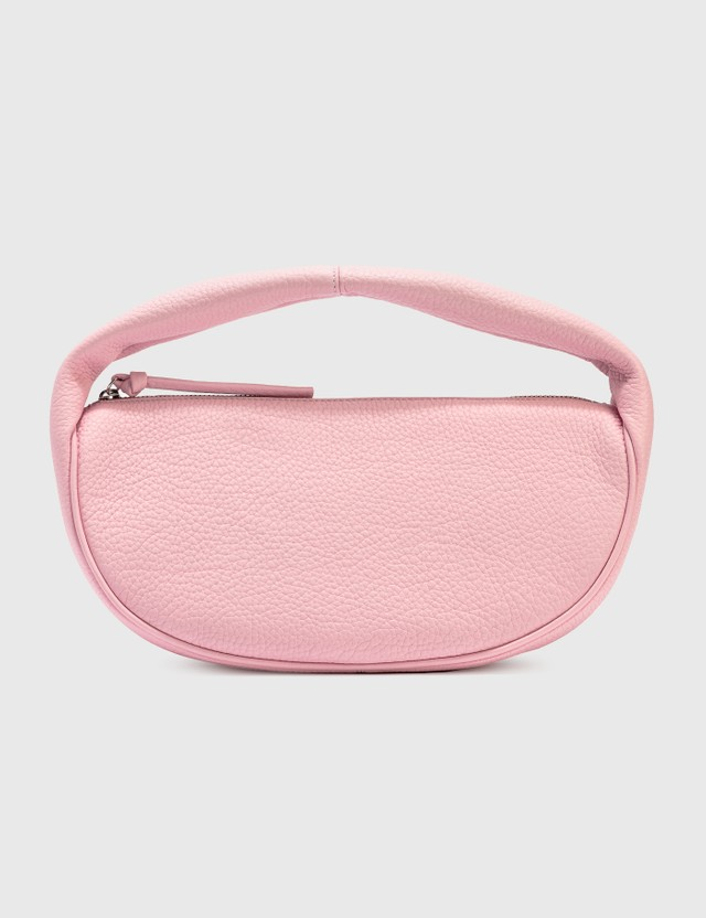 BY FAR Cush Peony Grained Leather Shoulder Bag Peony Women