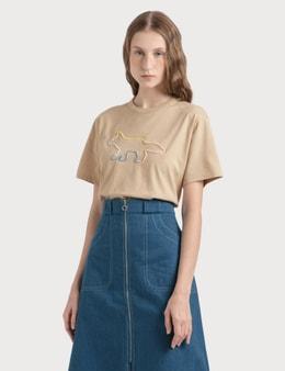 Maison Kitsune Rainbow Profile Fox Embroidery T-shirt