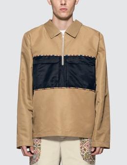 Paria Farzaneh Beige Piping Jacket Shirt