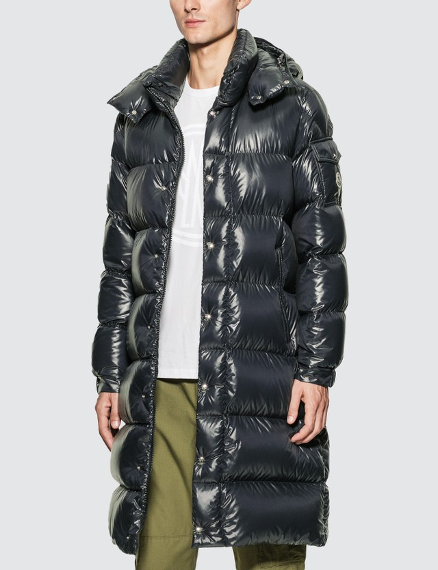 Moncler Hanoverian Down Quilted Coat Navy Men