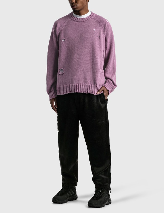 Undercover Distressed Sweater Lavender Men