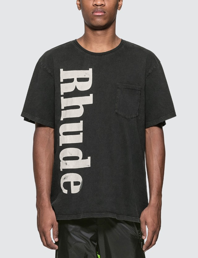 Rhude Vertical Logo Pocket T-Shirt