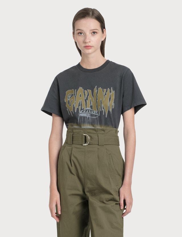 Ganni Basic Cotton Jersey T-Shirt