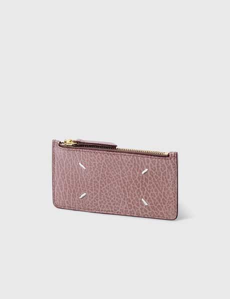 메종 마르지엘라 Maison Margiela Grain Leather Zip Card Holder