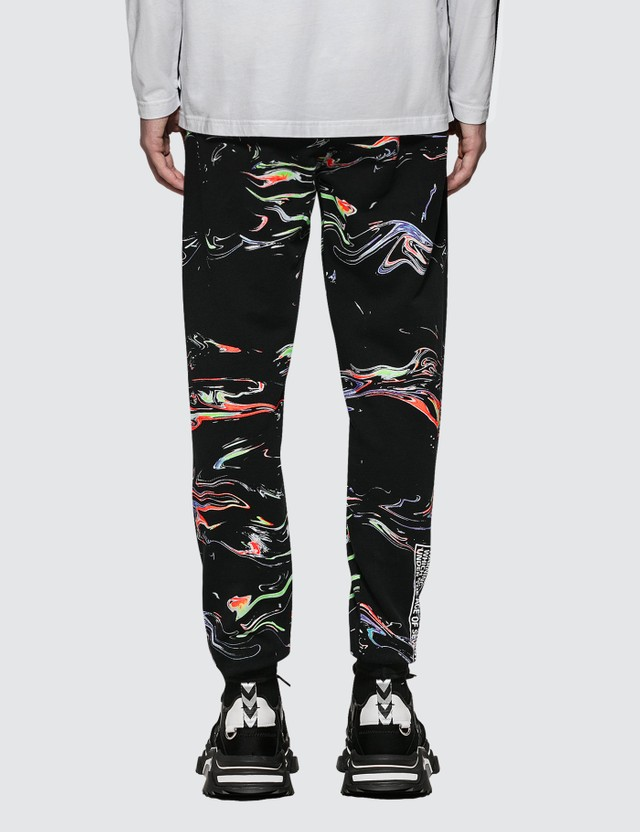 Marcelo Burlon All Over Lights Sweatpants White Men