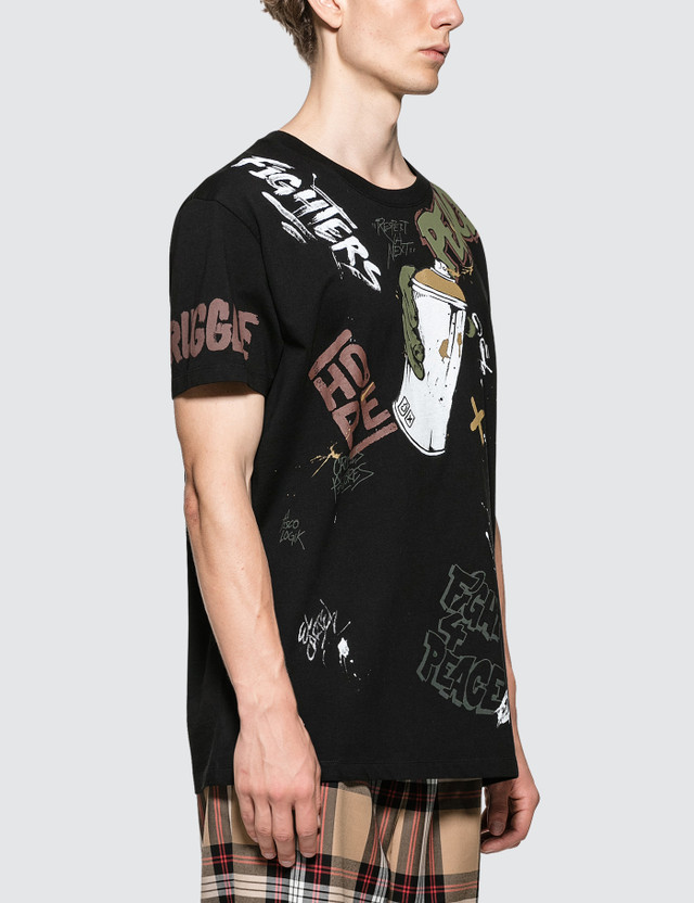 Faith Connexion All Over Tag Black S/S T-Shirt