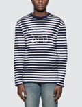 Maison Kitsune Tricolor Fox Patch Marin L/S T-Shirt Picture