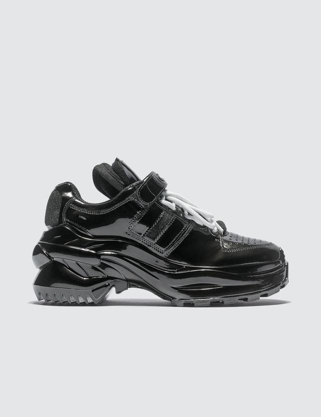 Maison Margiela Retro Low Fit Metallic Sneakers Black Women