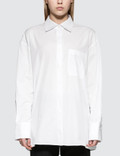 Helmut Lang Open Placket Oversized Shirt Picutre