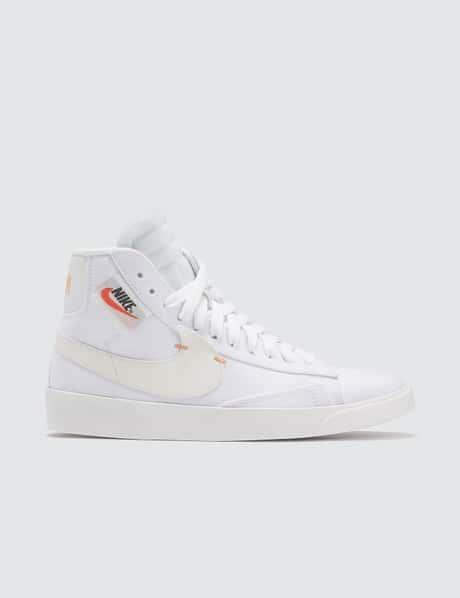 나이키 우먼스 블레이저 미드 레벨 - 화이트 퓨얼 오렌지  Nike W Blazer Mid Rebel
