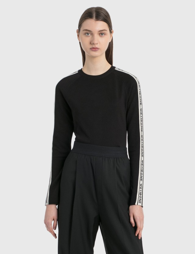 We11done Side We11done Jacquard Sweater Black Women