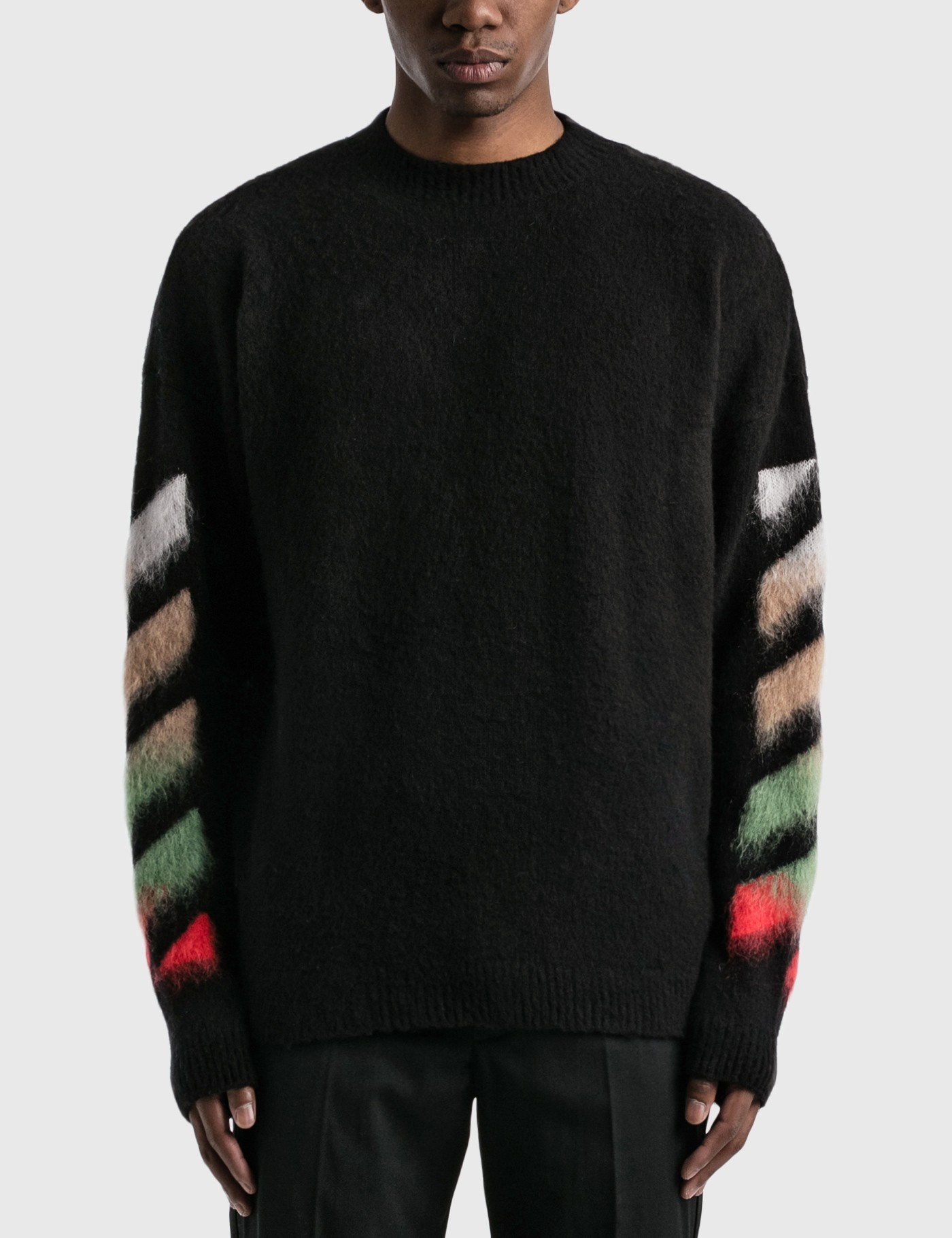 Diagonal Brushed Arrows Knitted Jumper