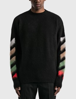 Off-White Diagonal Brushed Arrows Knitted Jumper