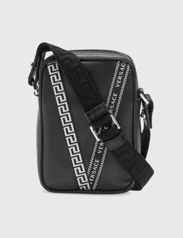 Versace V Printed Crossbodoy Bag Nero-palladio Men