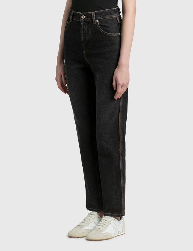 Loewe Tapered Jeans Black Women