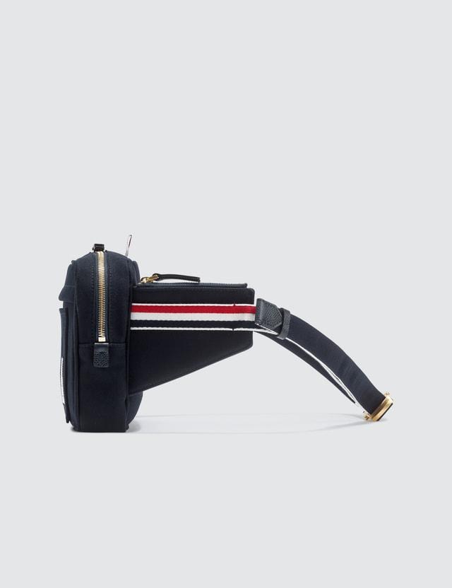 Thom Browne Interlock Backing Canvas Belt Bag