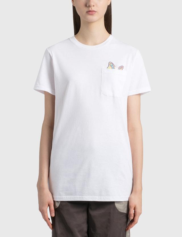 RIPNDIP Floating Pocket T-Shirt White Women