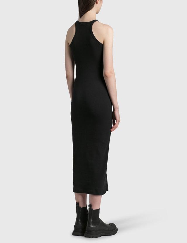 Off-White Basic Ribbed Dress Black Women