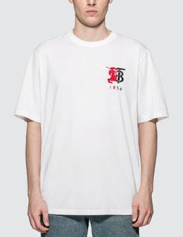 Burberry Contrast Logo Graphic Cotton T-shirt