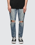 Denim By Vanquish & Fragment Knees Crash Tapered Denim Jeans Picture