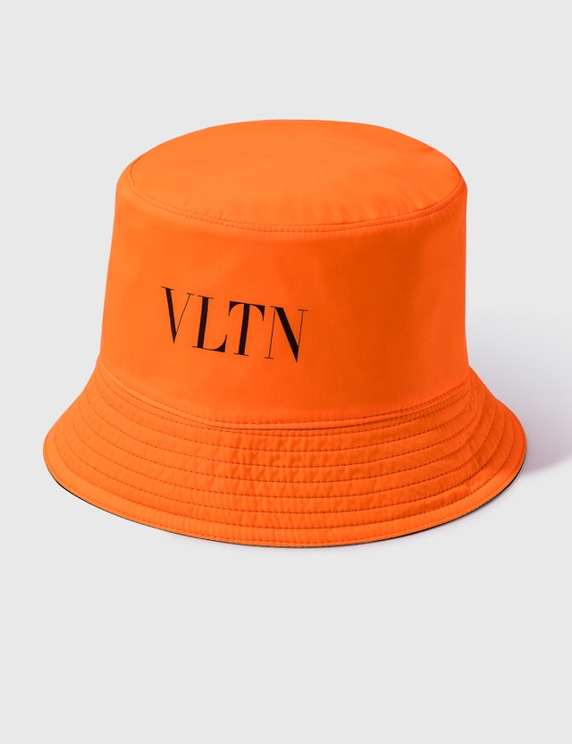 Valentino Valentino Garavani VLTN Reversible Bucket Hat Nero/bianco/arancio Fluo/nero Men