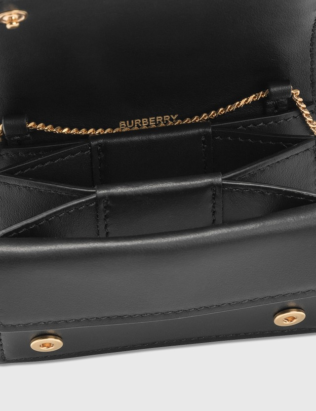 Burberry Monogram Leather Card Case with Detachable Strap
