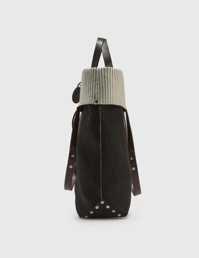 Maison Margiela Logo Fold-over Tote Bag Black/brown Men