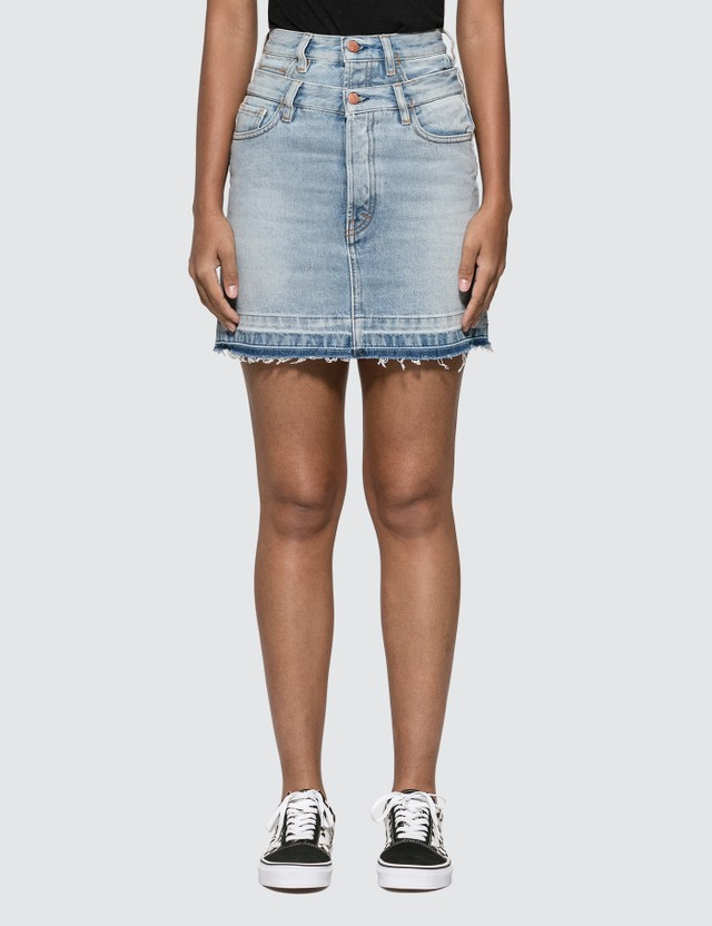 Aries Double Waistband Denim Skirt