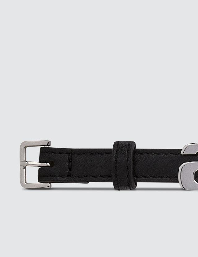 Alexander Wang Metal Logo Leather Belt