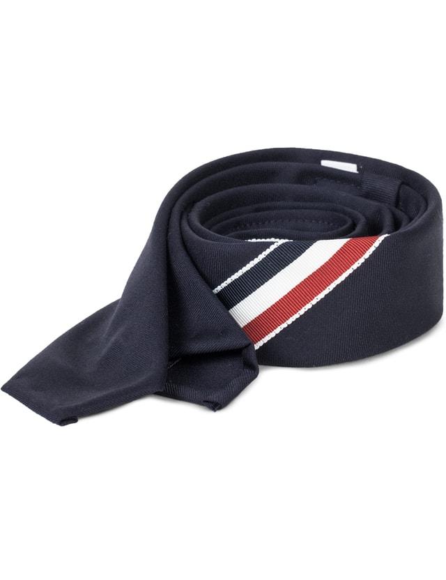 Thom Browne Wool Twill Classic Necktie With RWB Grosgrain
