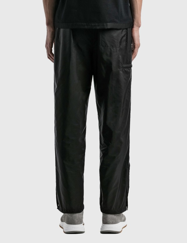 Prada Nylon Track Pants Nero Men