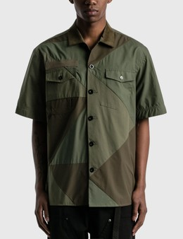 Sacai Hank Willis Thomas Solid Mix Shirt