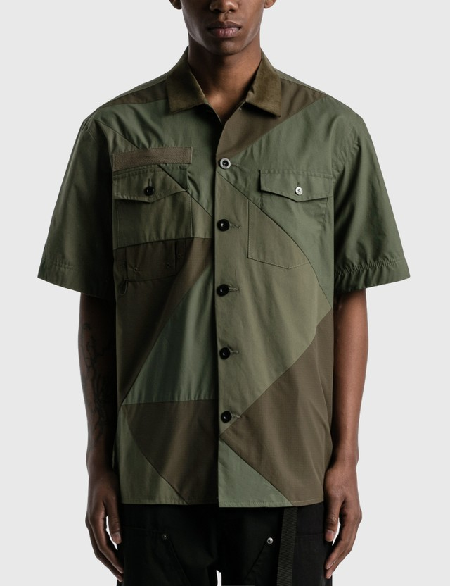 Sacai Hank Willis Thomas Solid Mix Shirt Khaki Men