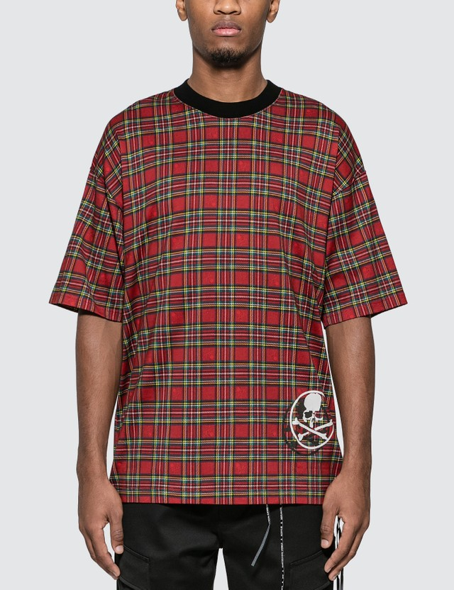 Mastermind World Tartan Check Logo Print T-Shirt