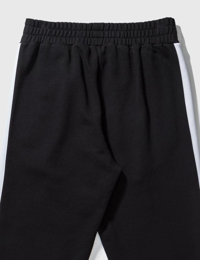 Palm Angels Cotton Fleece Track Pants Black Men