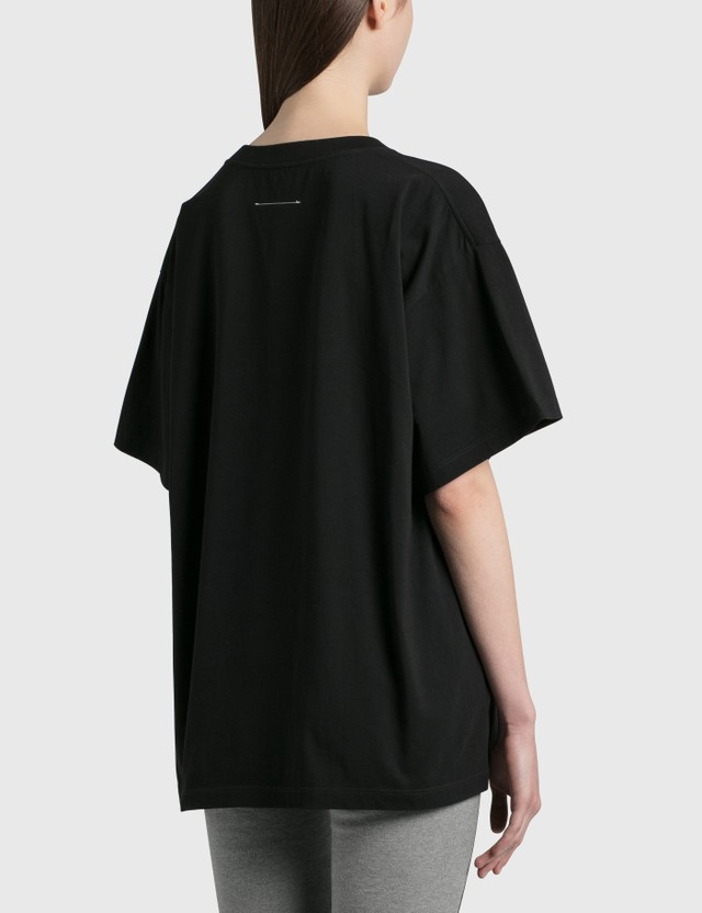 MM6 Maison Margiela Genderless Print T-Shirt Black Women