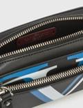 Valentino Valentino Garavani Double V Logo Mini Waist Satchel Nero/azzurro Fluo-bianco/nero Men