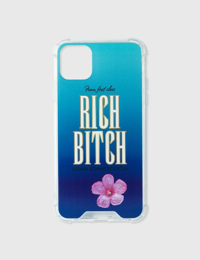 Urban Sophistication Rich Bitch iPhone Case Blue Women